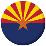 Arizona State Flag 58mm Mirror Keyring
